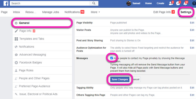 How to Add Send Message Button on Facebook Page 2020